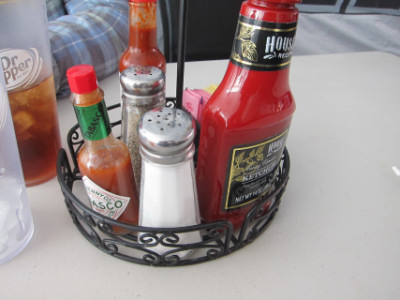Condiments on the table