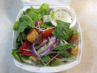 Half salad at Falcone's