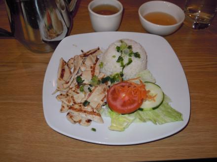 Chicken rice platter