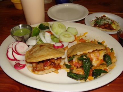 Gorditas from the Mexican menu