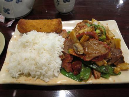 BBQ pork & vegetables