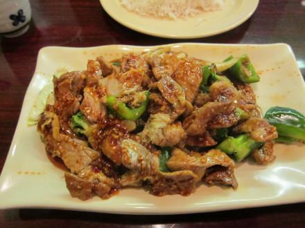 Pork with garlic sauce