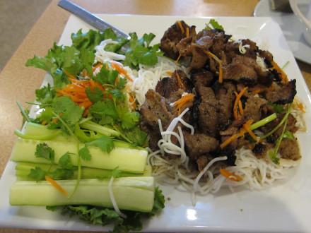 Hanoi styled grilled pork vermicelli